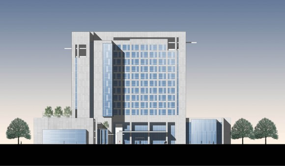 Hyatt Regency Guwahati - South Elevation